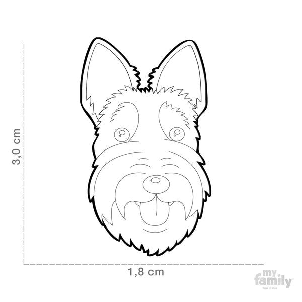 Pet ID Tag | Scottish Terrier + FREE Engraving