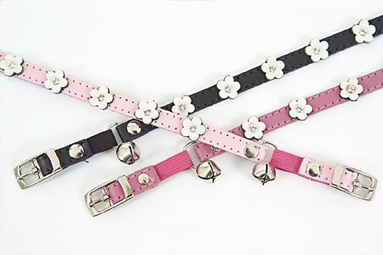 Dogue Leather Cat Collar | Flower | Peticular
