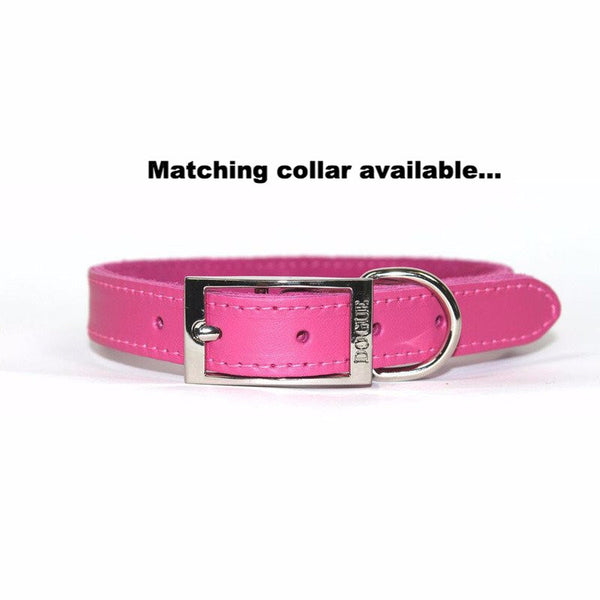 Dogue Plain Jane Leather Dog Lead | Fuschia | Peticular