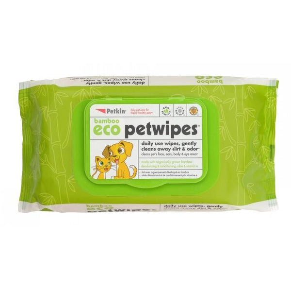 Petkin Bamboo Eco Pet Wipes | Peticular