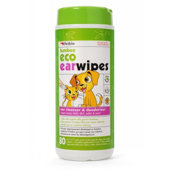 Petkin Bamboo Eco Ear Wipes | Peticular