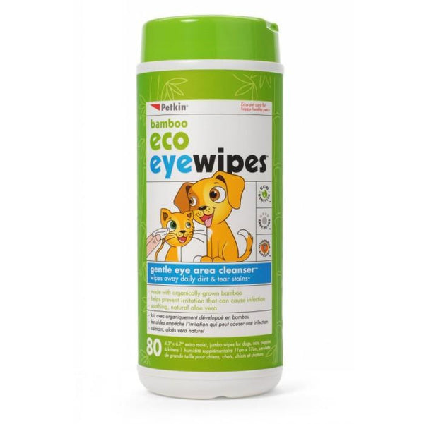 Petkin Bamboo Eco Eye Wipes | Peticular