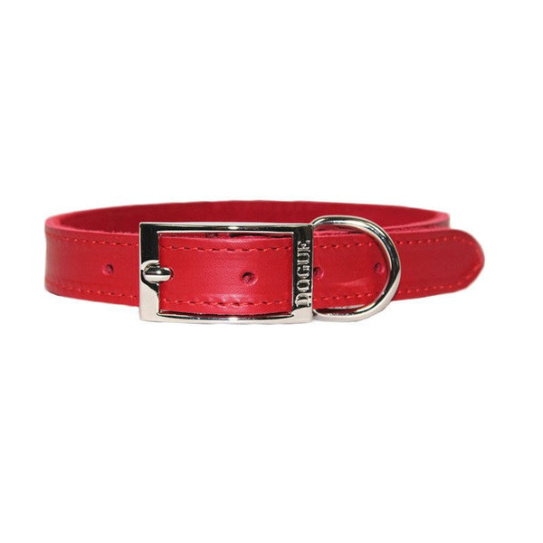 Dogue Plain Jane Leather Dog Collar | Red | Peticular