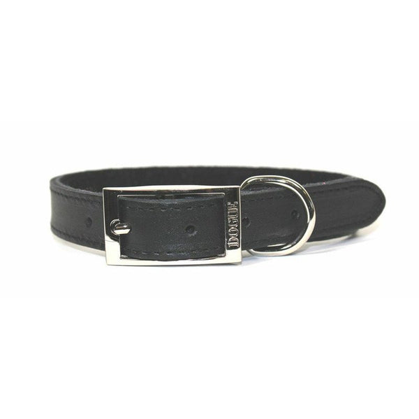 Dogue Plain Jane Leather Dog Collar | Black | Peticular