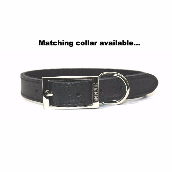 Dogue Plain Jane Leather Dog Lead | Black | Peticular