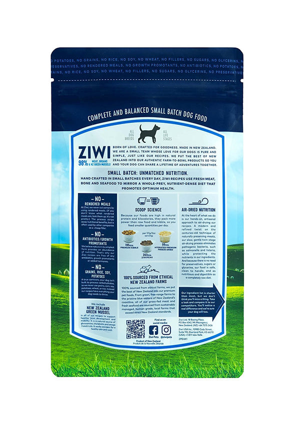 Ziwi Peak Air-Dried Dog Food | Tripe & Lamb | Peticular