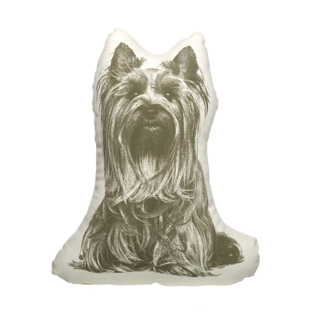 Areaware Fauna Cushion | Yorkshire Terrier | Peticular