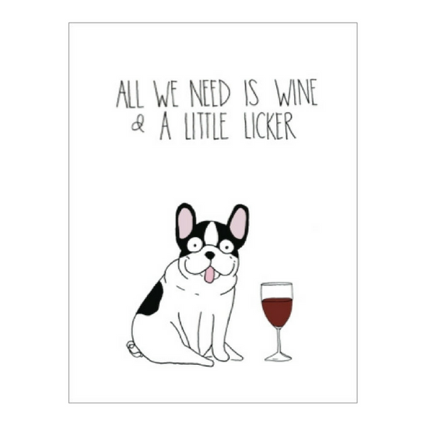 Blank Card | Wine & Licker