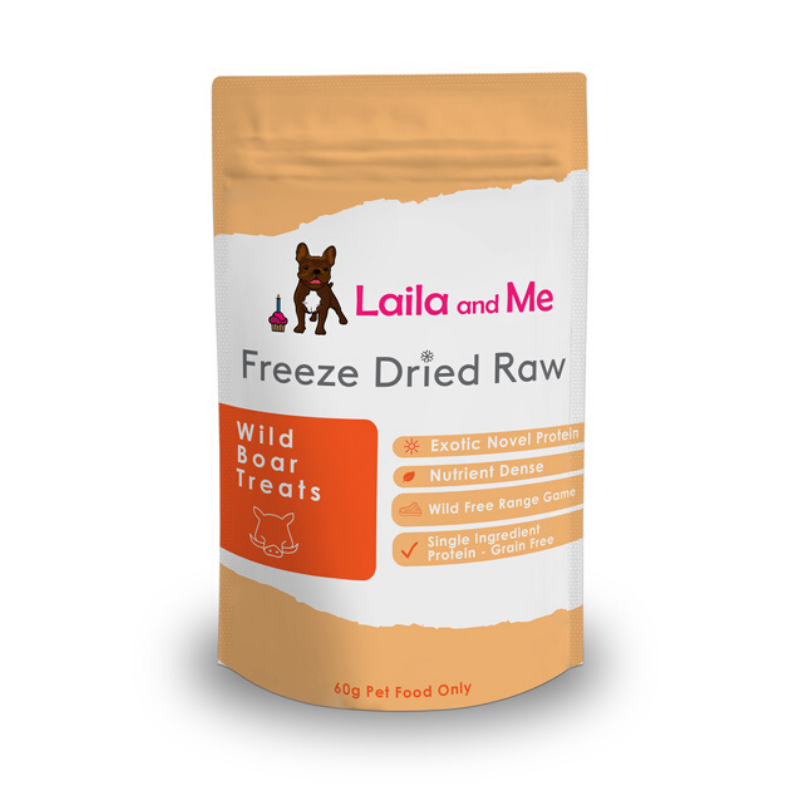 Laila and Me Freeze Dried Raw Treats | Wild Boar | Peticular