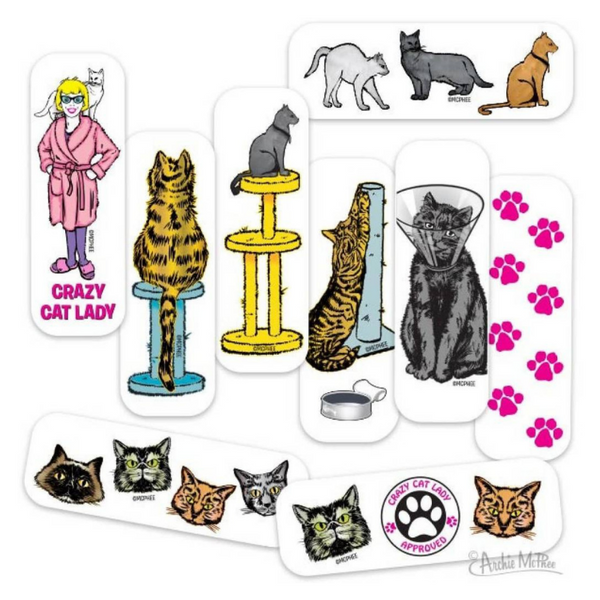 Archie McPhee Crazy Cat Lady Bandages | Peticular