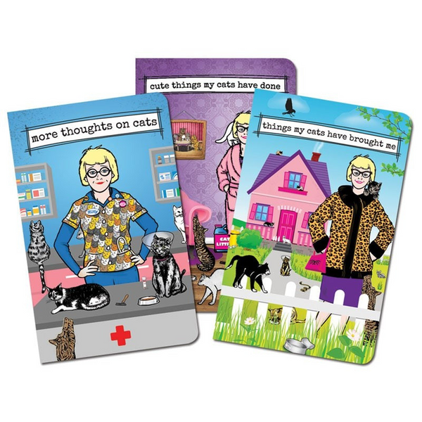 Archie McPhee Crazy Cat Lady Notebooks | Peticular