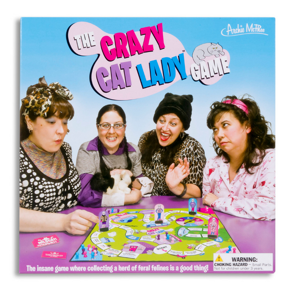 Archie McPhee Crazy Cat Lady Board Game | Peticular