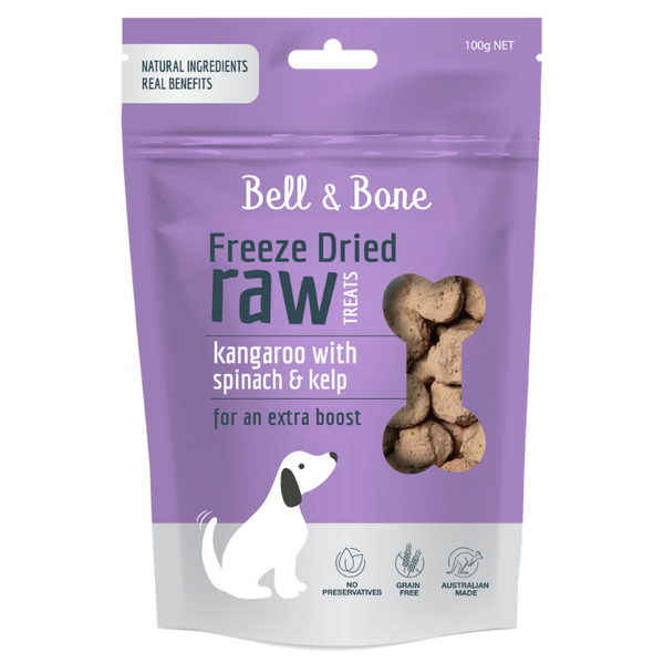 Bell & Bone Freeze Dried Raw Dog Treats | Kangaroo | Peticular