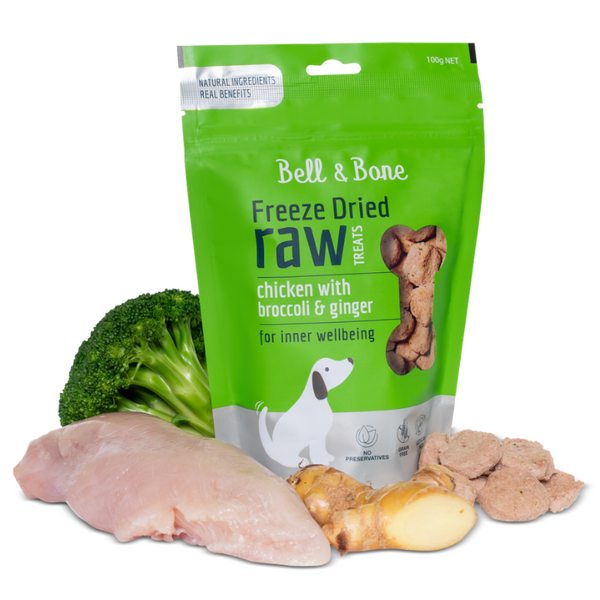 Bell & Bone Freeze Dried Raw Dog Treats | Chicken | Peticular