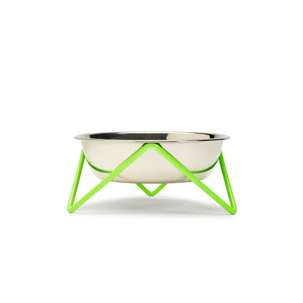 Bendo Meow Cat Bowl | Green | Peticular