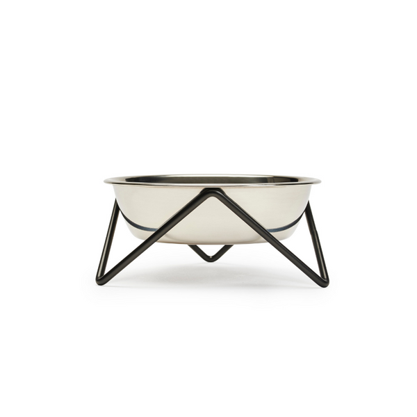 Meow Luxe Cat Bowl | Black