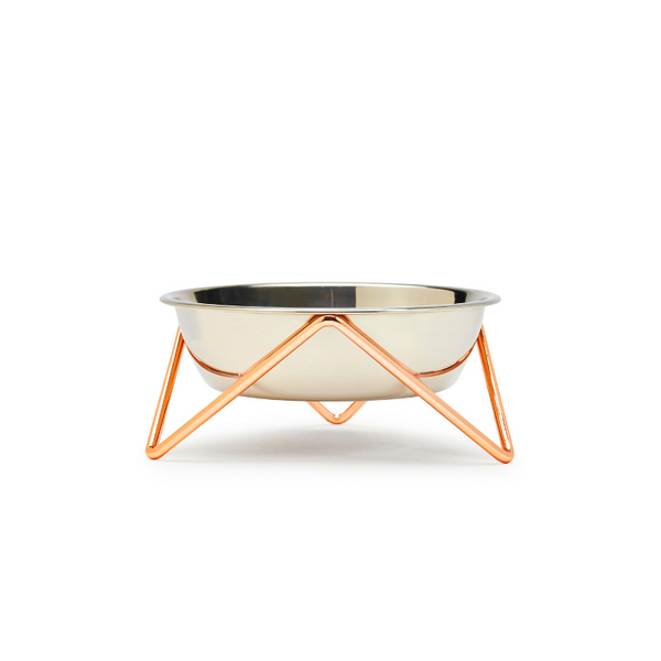 Meow Luxe Cat Bowl | Copper