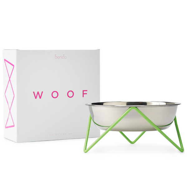 Woof Dog Bowl | Green