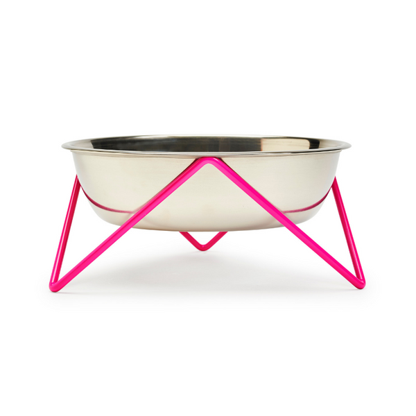 Woof Dog Bowl | Pink