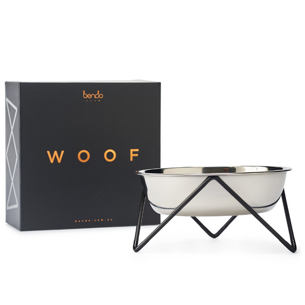 Woof Luxe Dog Bowl | Black
