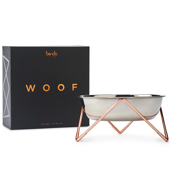 Woof Luxe Dog Bowl | Copper