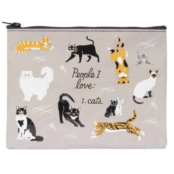 Zipper Pouch | People I Love: Cats