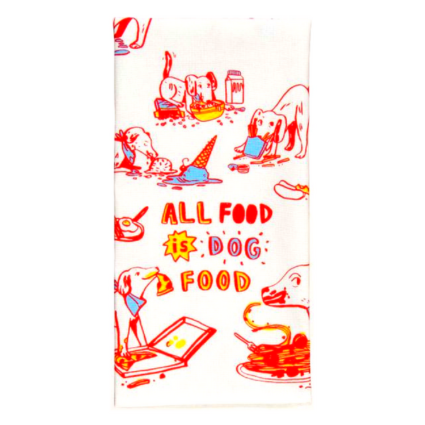 Blue Q Dish Towel | All Food Is Dog Food | Peticular