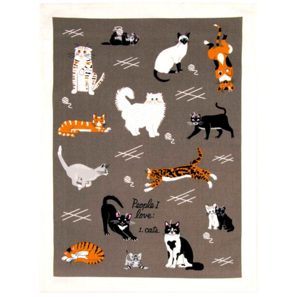 Blue Q Dish Towel | People I Love: Cats | Peticular
