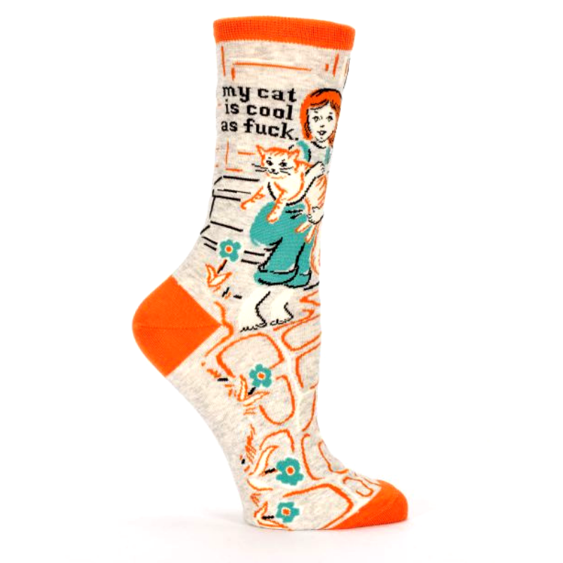 Blue Q Women's Socks | My Cat Is Cool As | Peticular