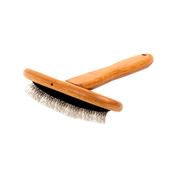 Essential Dog Natural Bamboo Slicker Brush | Peticular