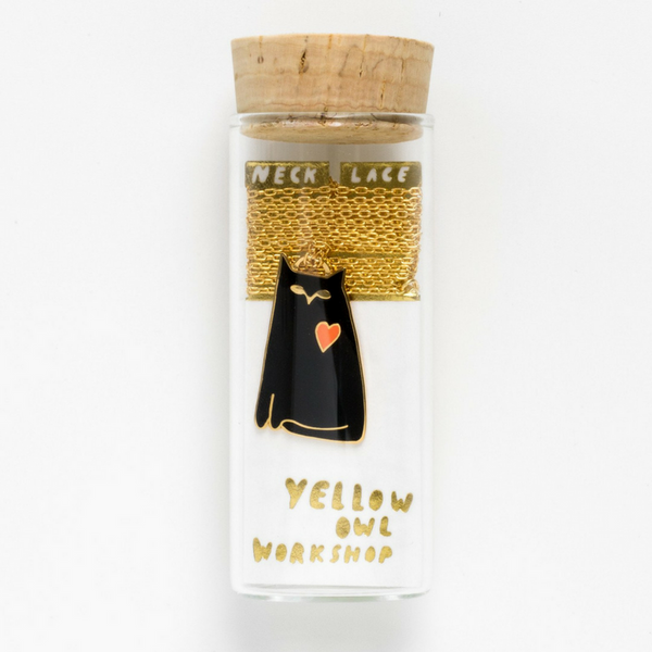 Yellow Owl Workshop Cat Love Necklace | Peticular