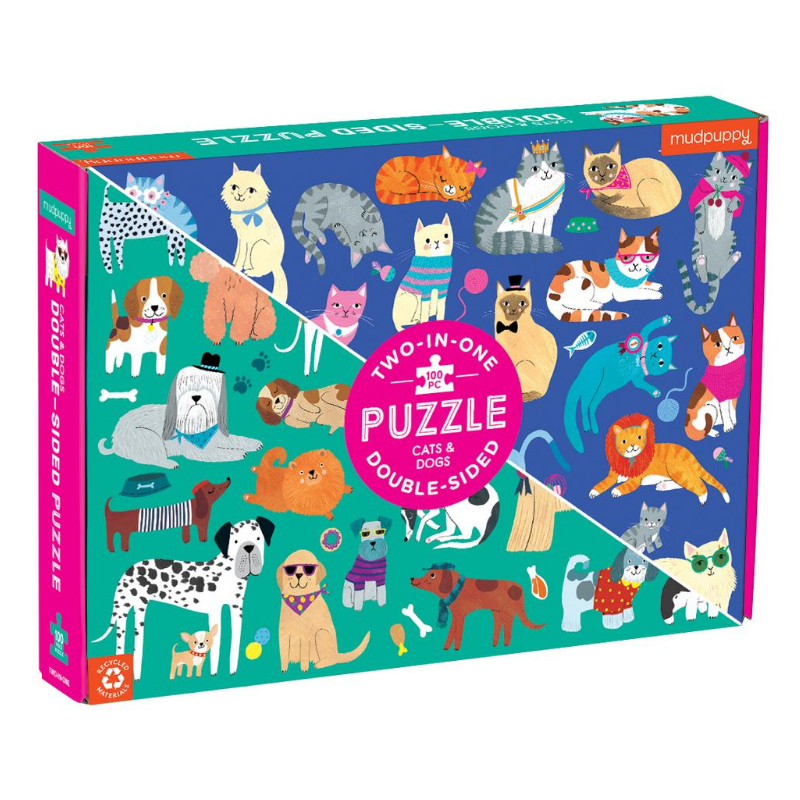 Double-Sided Puzzle | Cats & Dogs