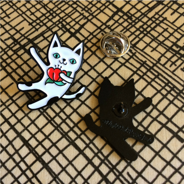 Curated Enamel Pin Badge | Cha! Cha! Cat | Peticular