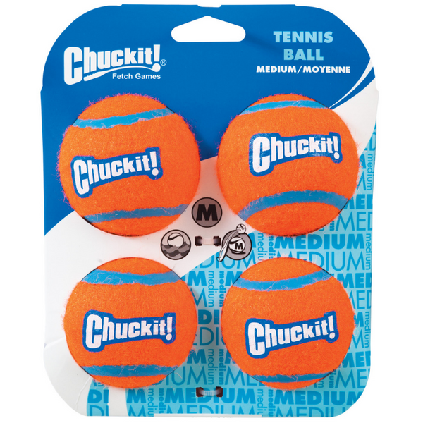 Chuckit! Tennis Balls | 4 Pack Medium | Peticular