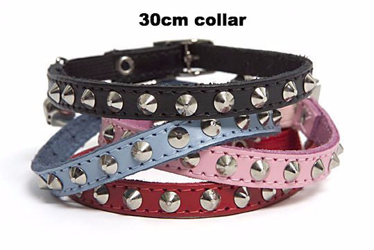 Dogue Stud Muffin Leather Dog Collar | Fuschia | Peticular