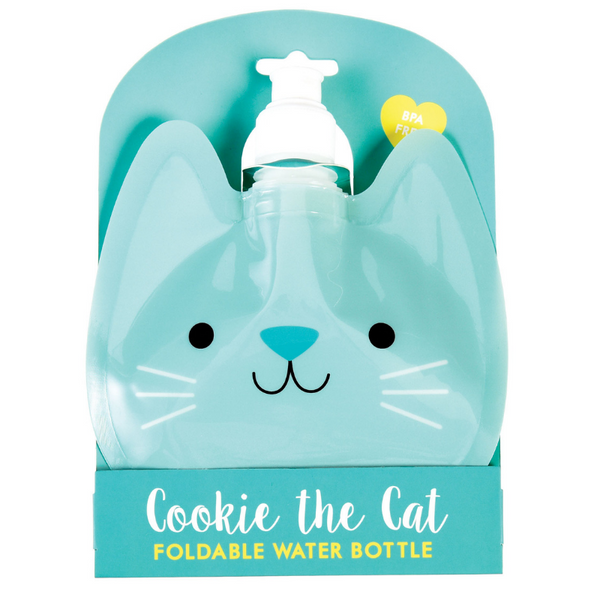 Outliving Foldable Water Bottle | Cookie The Cat | Peticular