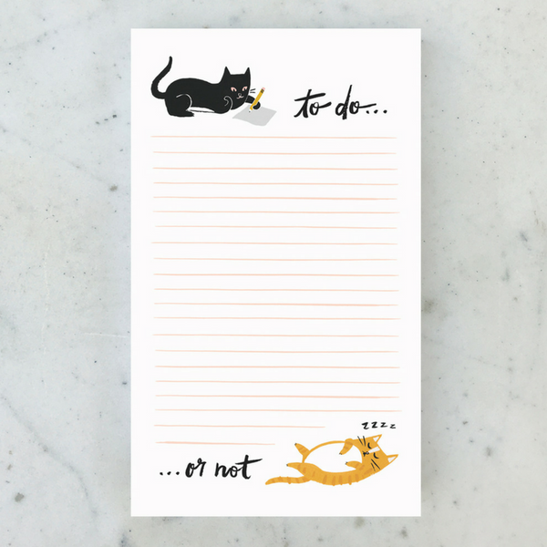 Curated To Do Or Not Notepad | Peticular