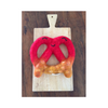 Dipped Pretzel Wool Dog Toy