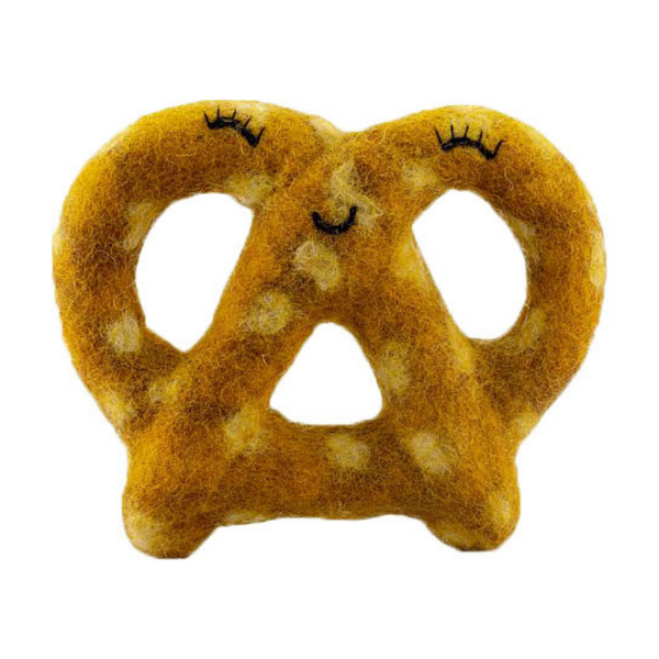 Pretzel Wool Dog Toy