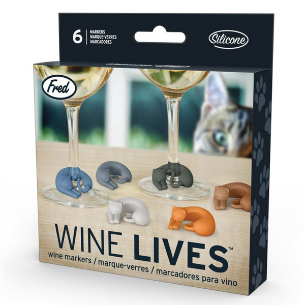 Independence Studios Wine Lives | Cat Drink Markers | Peticular
