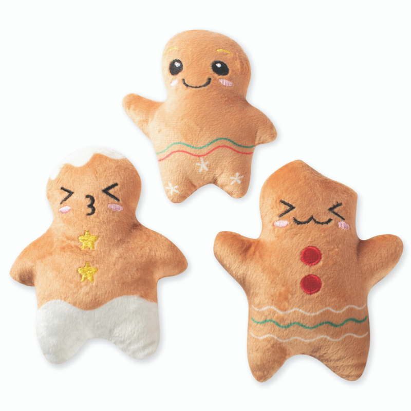 Fringe Studio Gingerbread Mini Dog Toys | Peticular