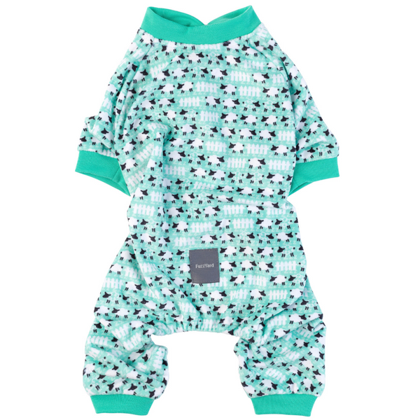 FuzzYard Counting Sheep Green Onesie Pyjamas | Peticular