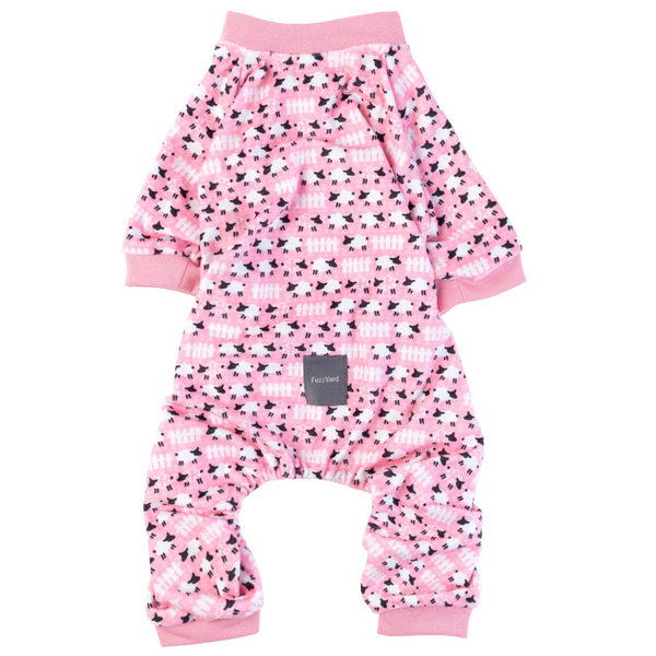 Counting Sheep Pink Onesie Pyjamas