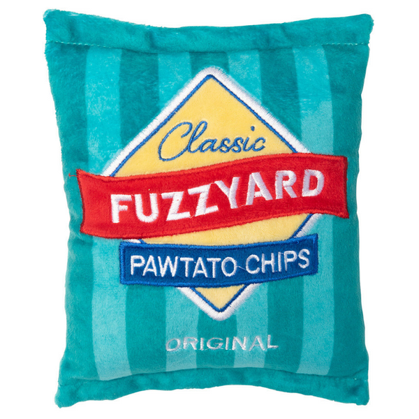 FuzzYard Pawtato Chips Plush Dog Toy | Peticular
