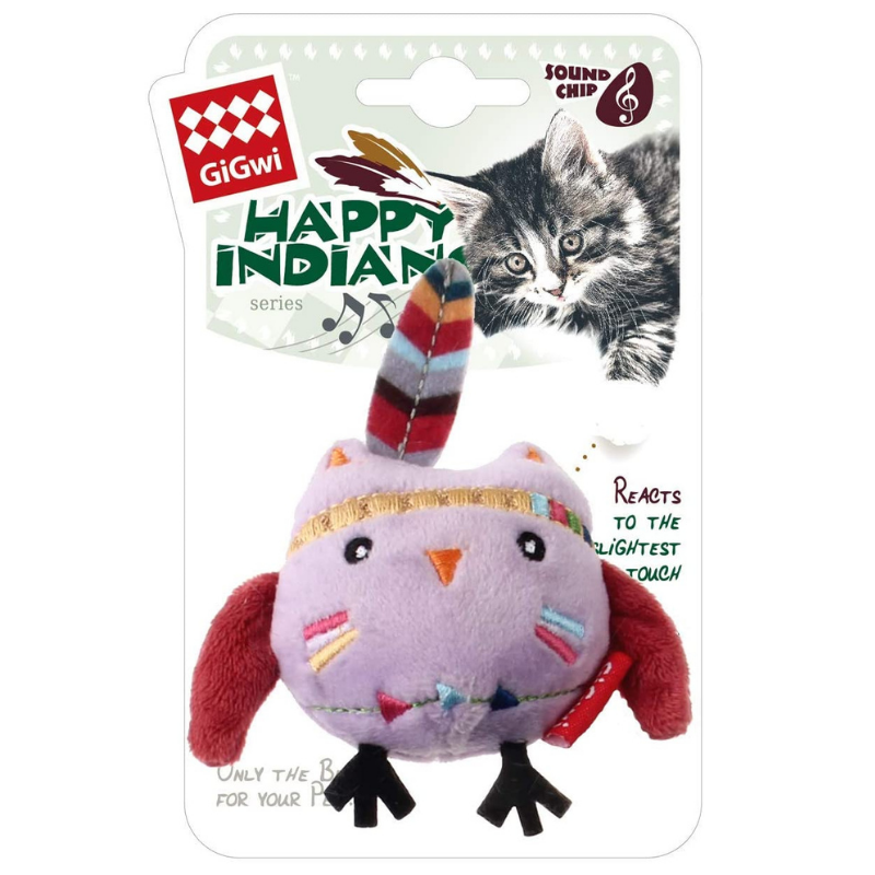 Happy Indians Melody Chaser Cat Toy | Owl