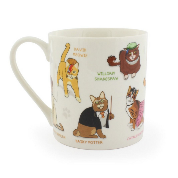 Curated Celebri Cats Mug | Peticular
