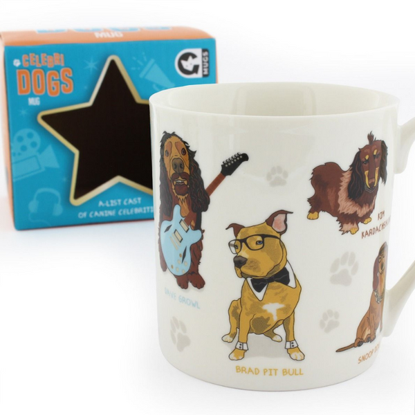 Curated Celebri Dogs Mug | Peticular