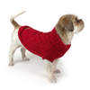 Huskimo Cable Knit Dog Jumper | Chilli | Peticular