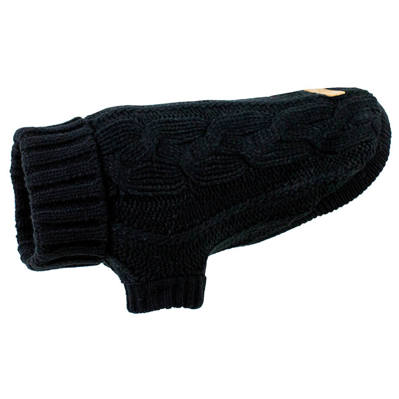 Huskimo Chunky Knit Dog Jumper | Black | Peticular