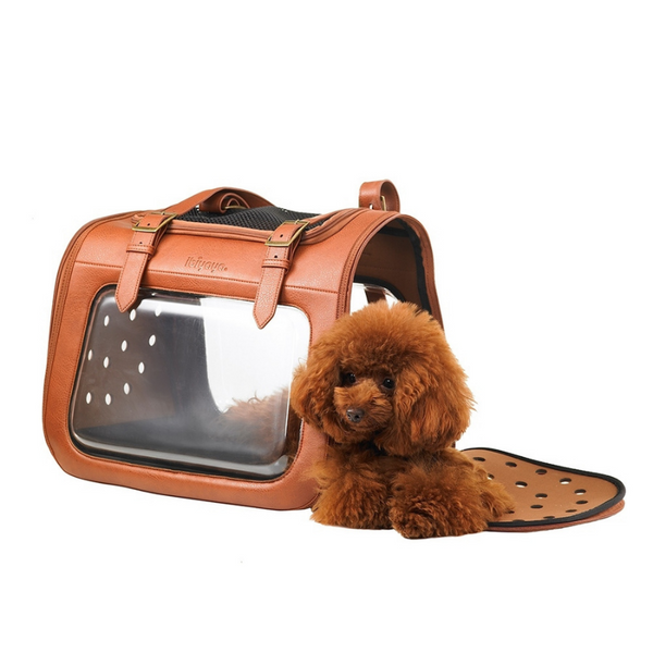 Portico Deluxe Leather Pet Carrier